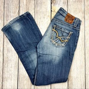 Big Star   Distressed Maddie Boot Mid Rise Jeans